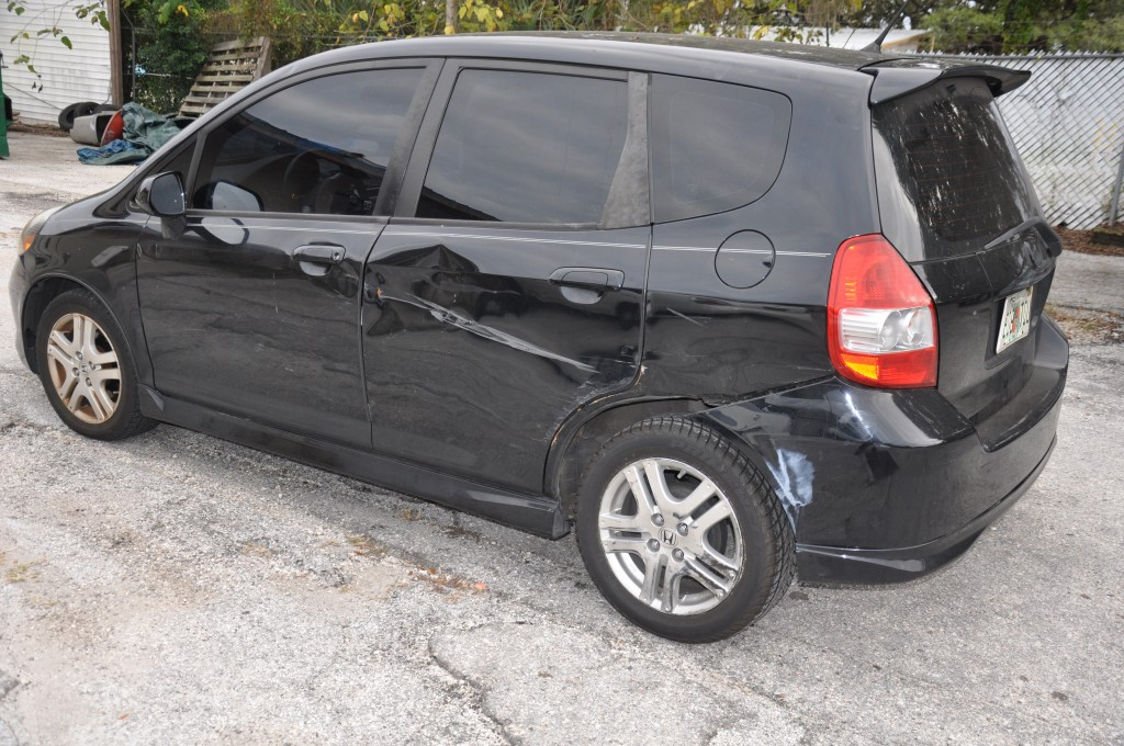 2008 Honda Fit Left Side Damage