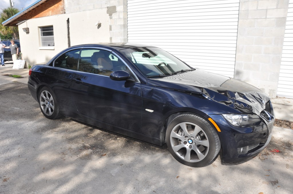 2009 BMW 335i Front Left Damage