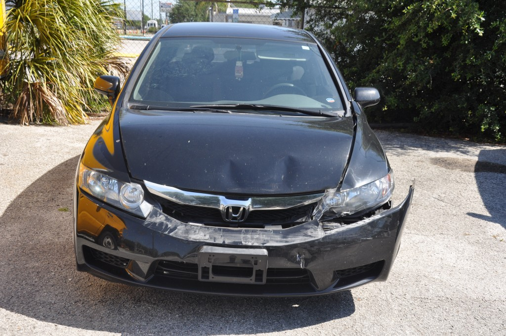 2010 Honda Civic LX front collision