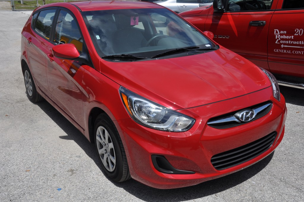 2014 Hyundai Accent after front bumper