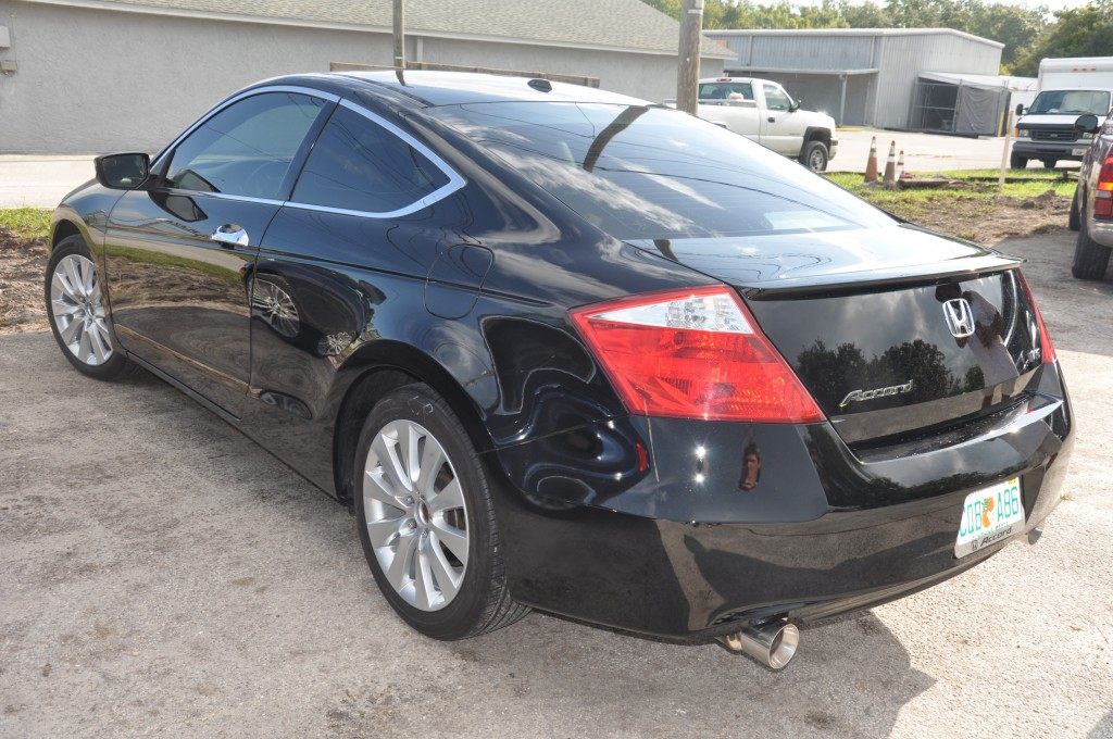 2009 Accord EX Coupe left rear view