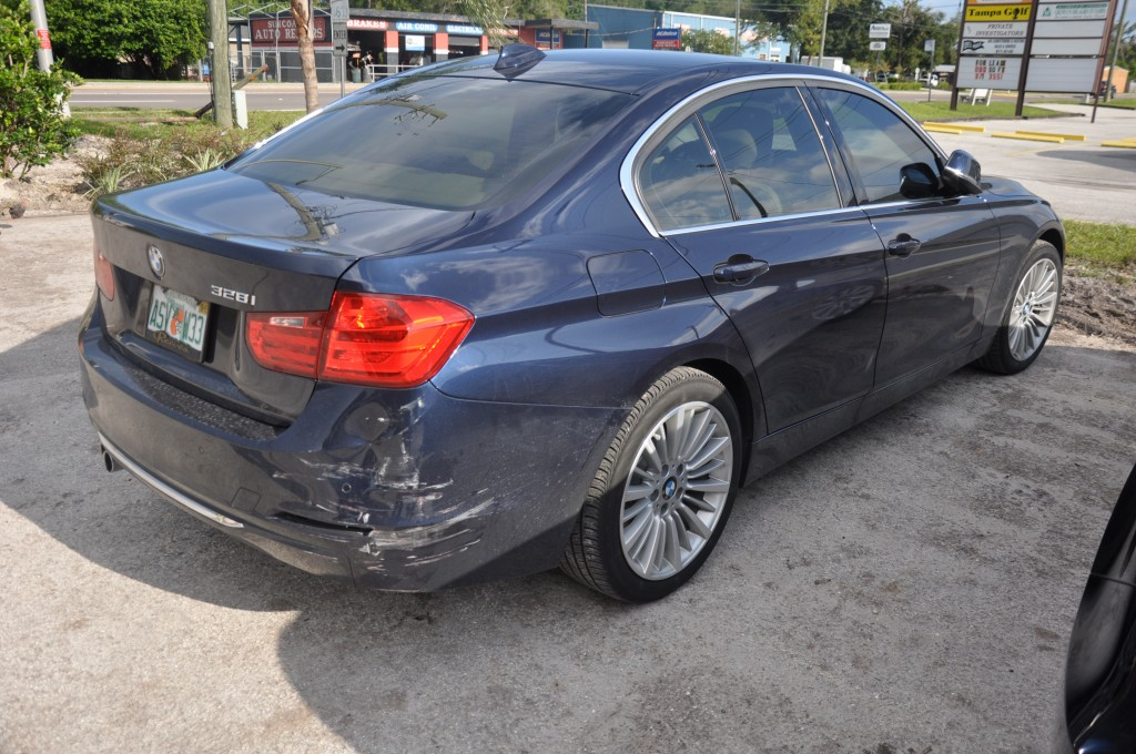 2014 BMW 328i rear collision