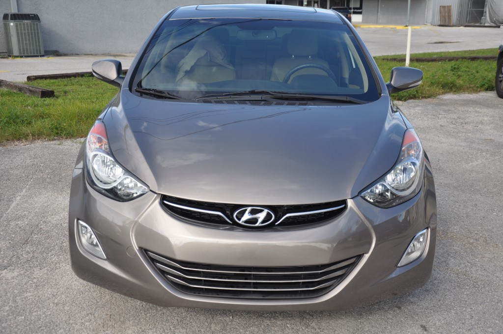 2012 Hyundai Elantra after auto body repairs