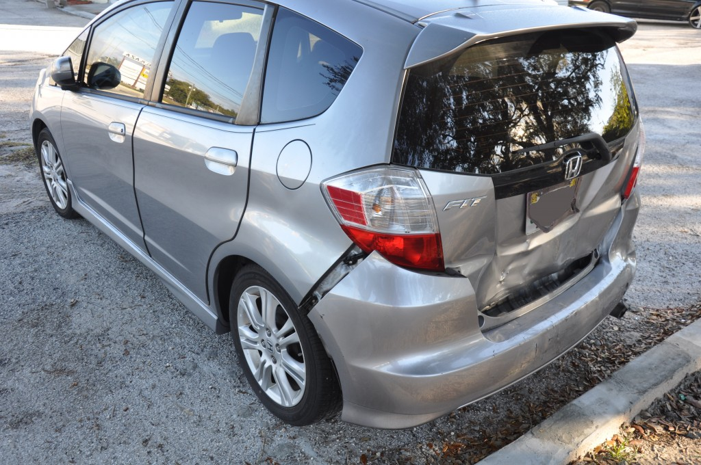 2009 Honda Fit rear end coillision