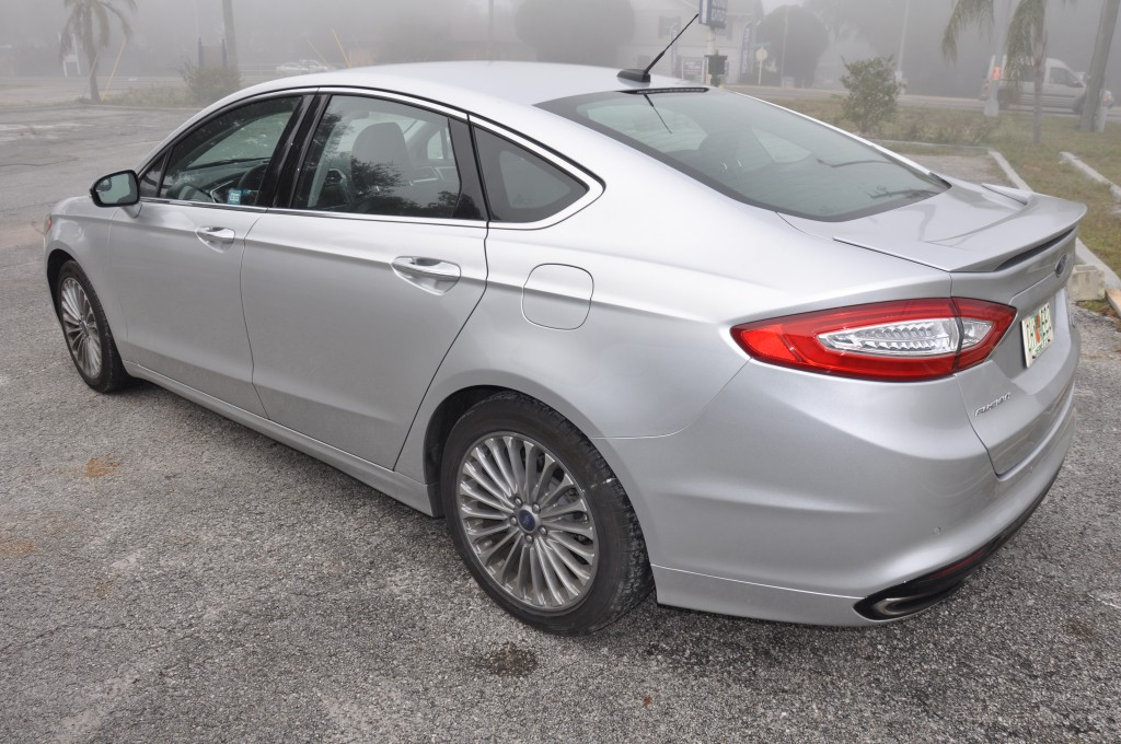 2015 Ford Fusion after rear bumper repair