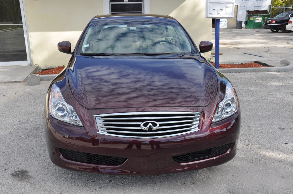 2010 Infiniti G37 after repairs or the front bumper
