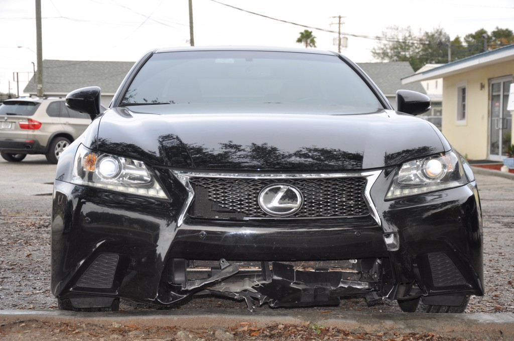 2013 Lexus GS350 front end collision