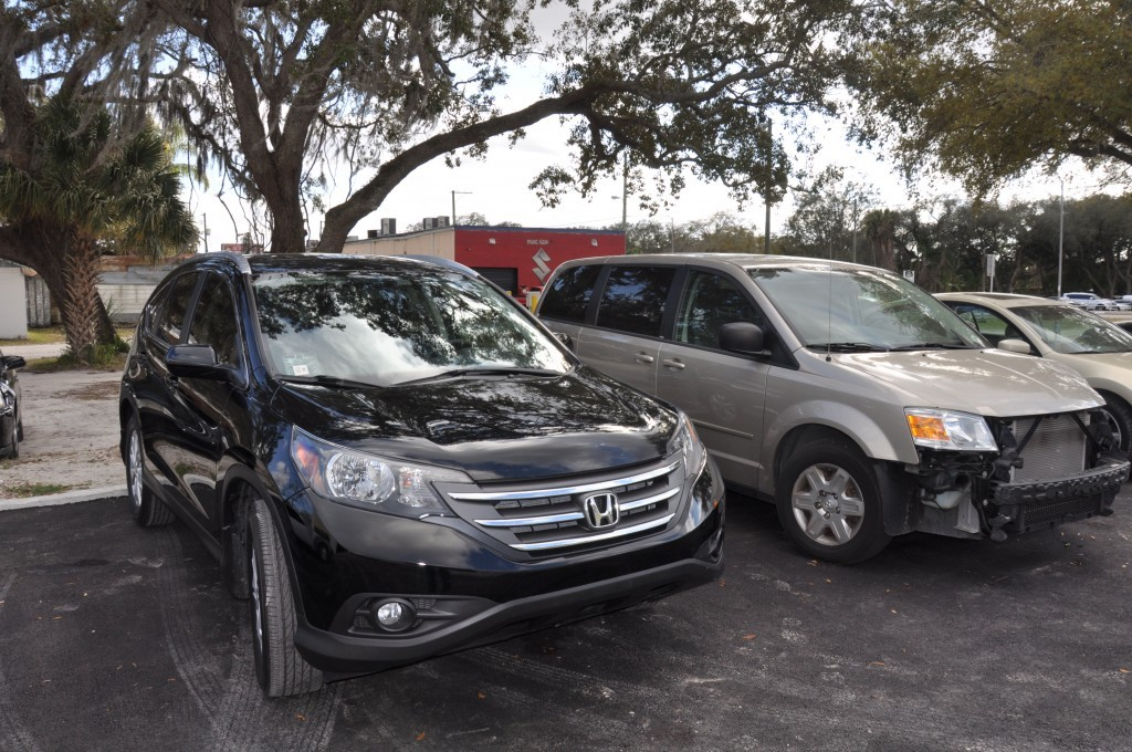 2013 Honda CRV after collision repairs