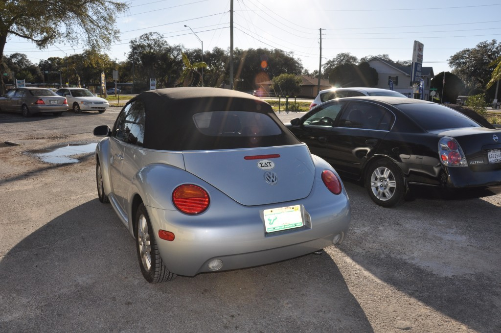 2005 Volkswagen Beetle after rear collision repair