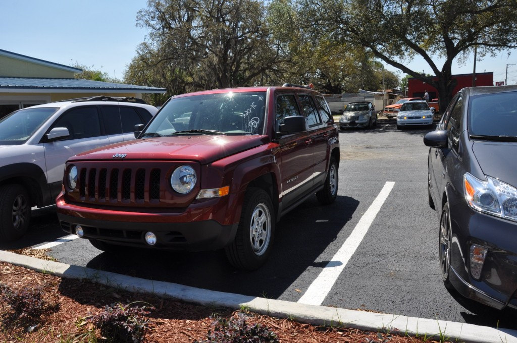 2014 Jeep Patriot after body repairs