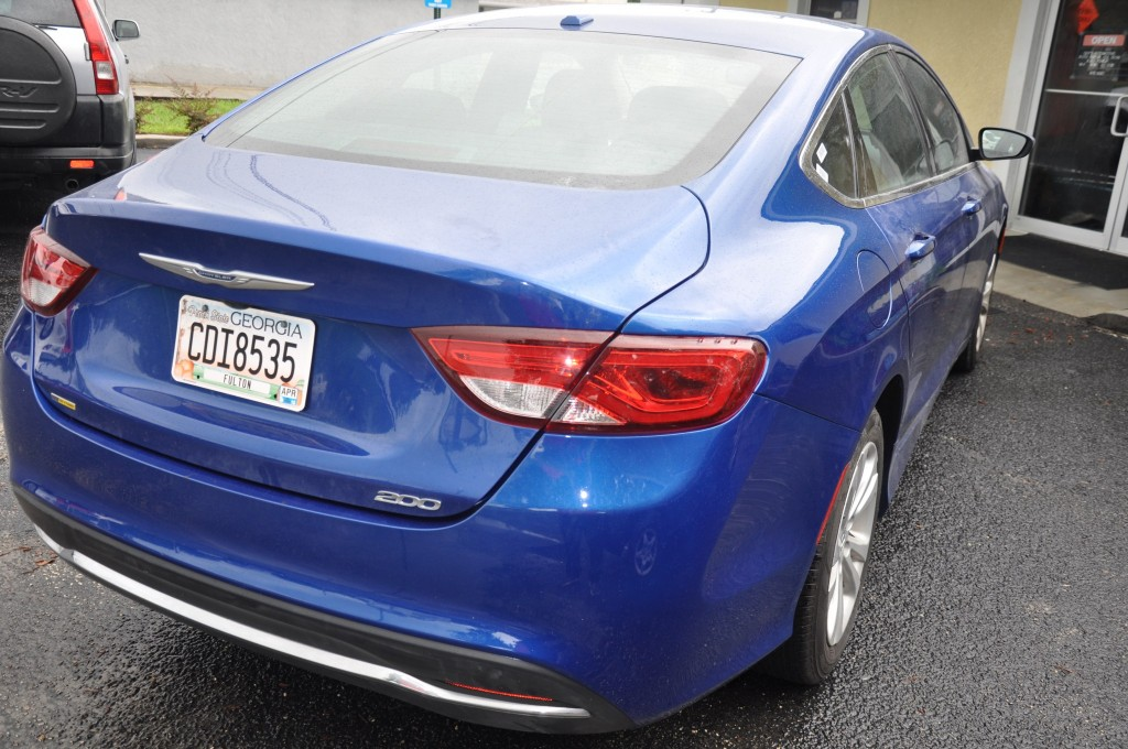 2015 Chrysler 200 after rear corner repair