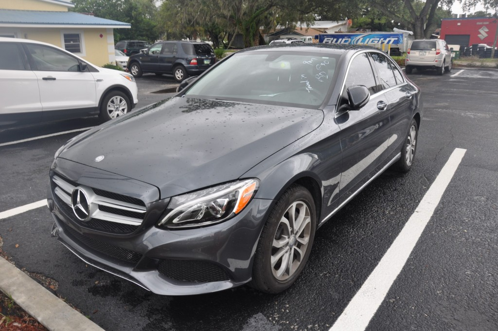 2015 Mercedes Benz C300 after front body damage repair