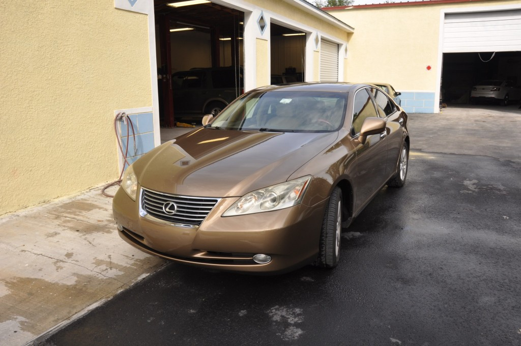 Lexus ES350 after auto body repairs