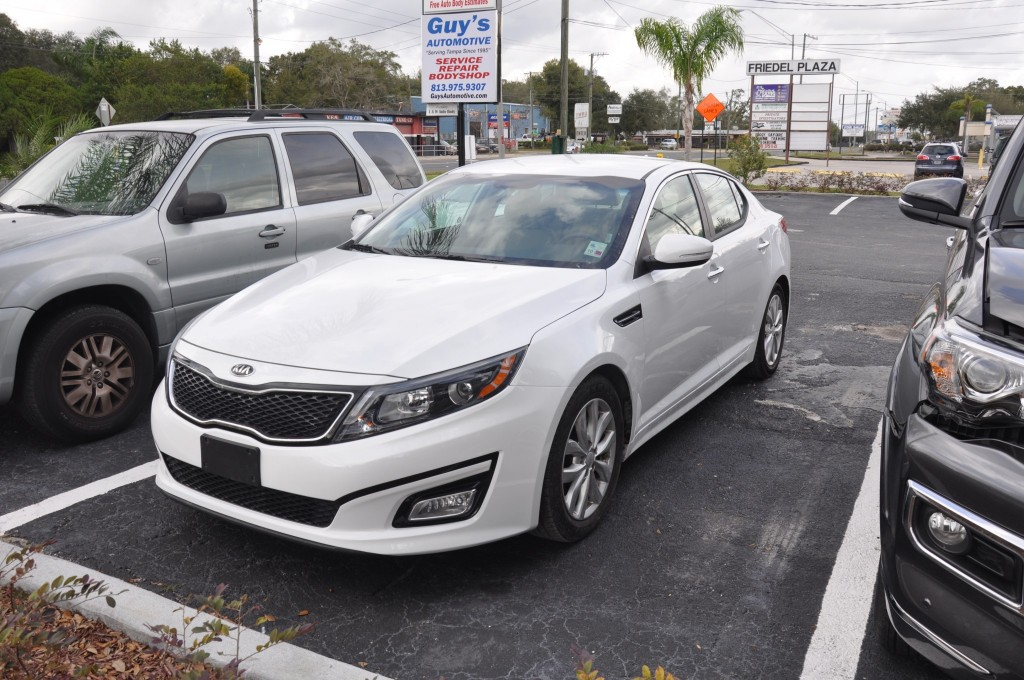 2015 Kia Optima after the fender was replaced