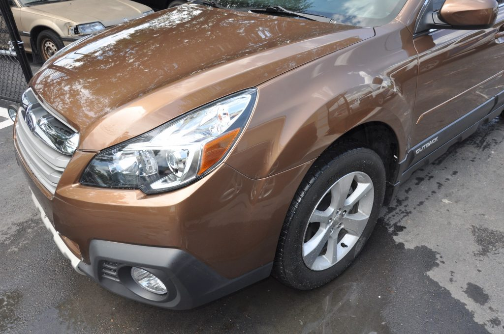 13 Subaru Outback after crunch