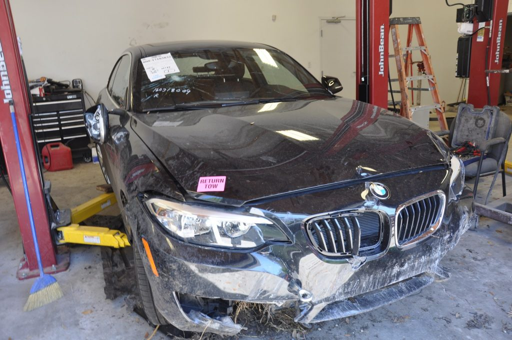 2016 BMW 228i right at the totalled line