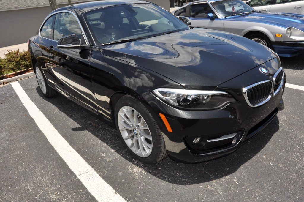 2016 BMW 228i after the transformation back to new
