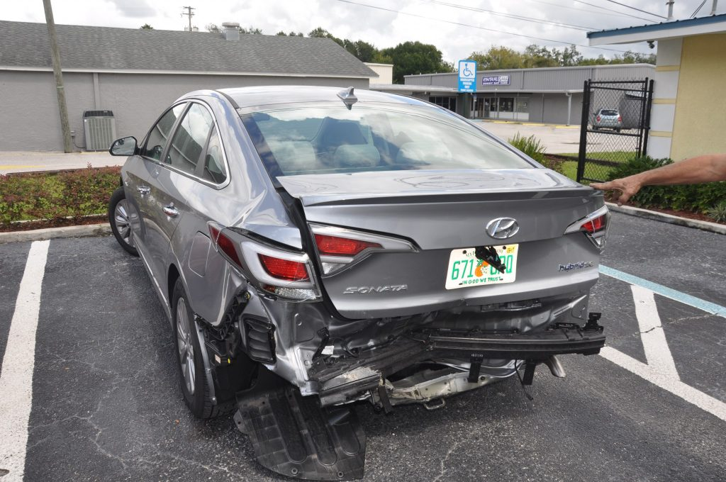 2016 Hyundai Sonota rear collision