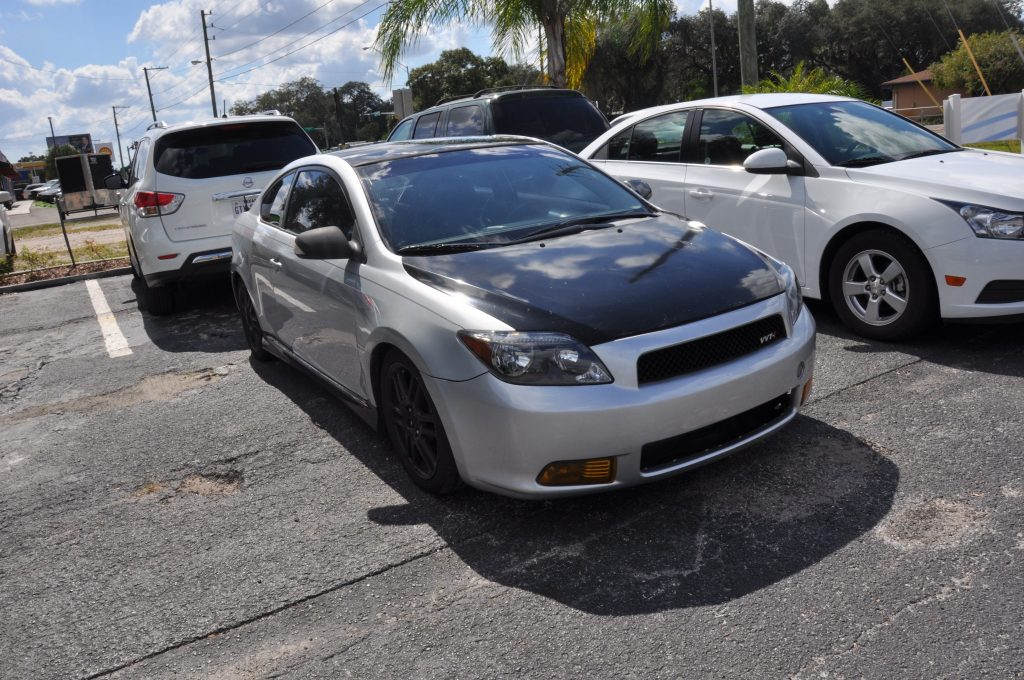 2006 Scion Tc after a front bumper