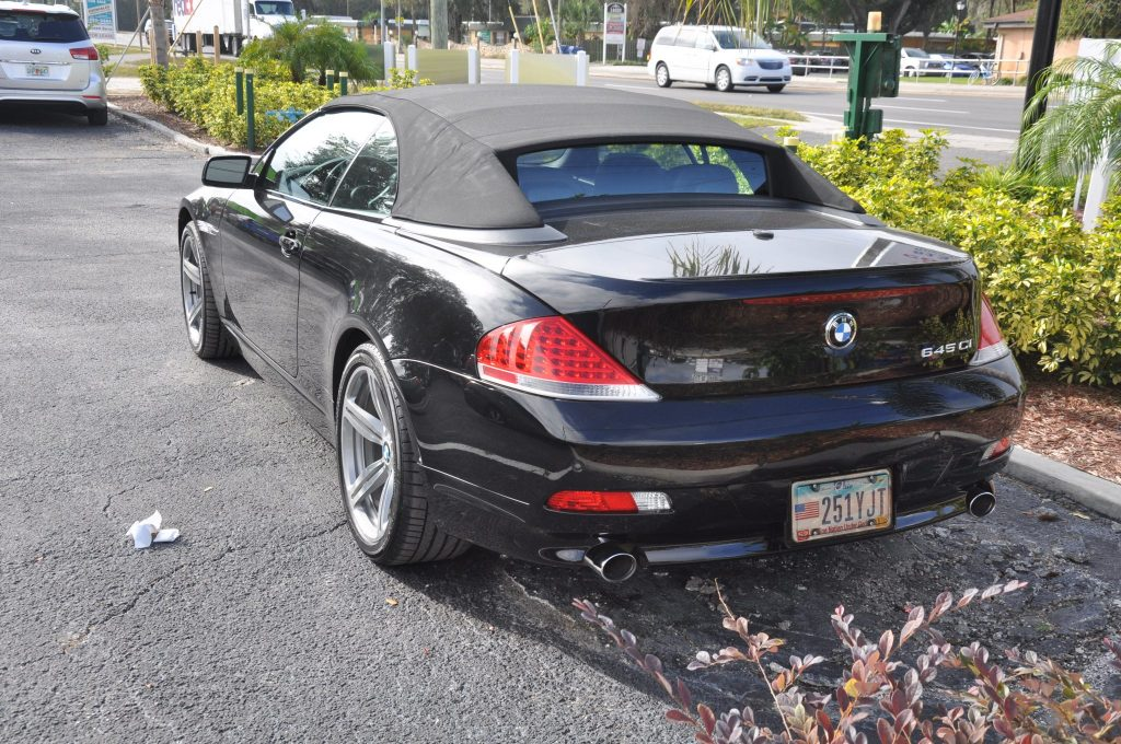 2005 BMW 645ci after a new rear bumper