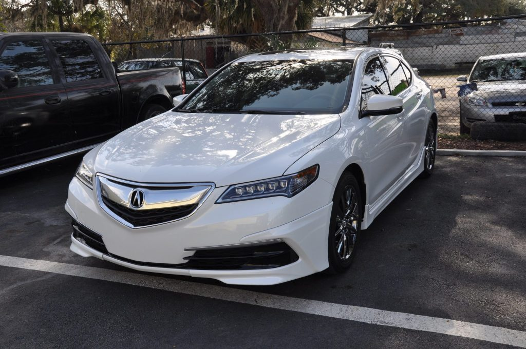 2015 Acura TLX front bumper replaced