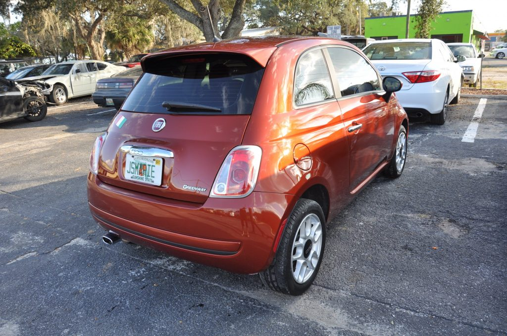 12 Fiat 500 pop collision center repair