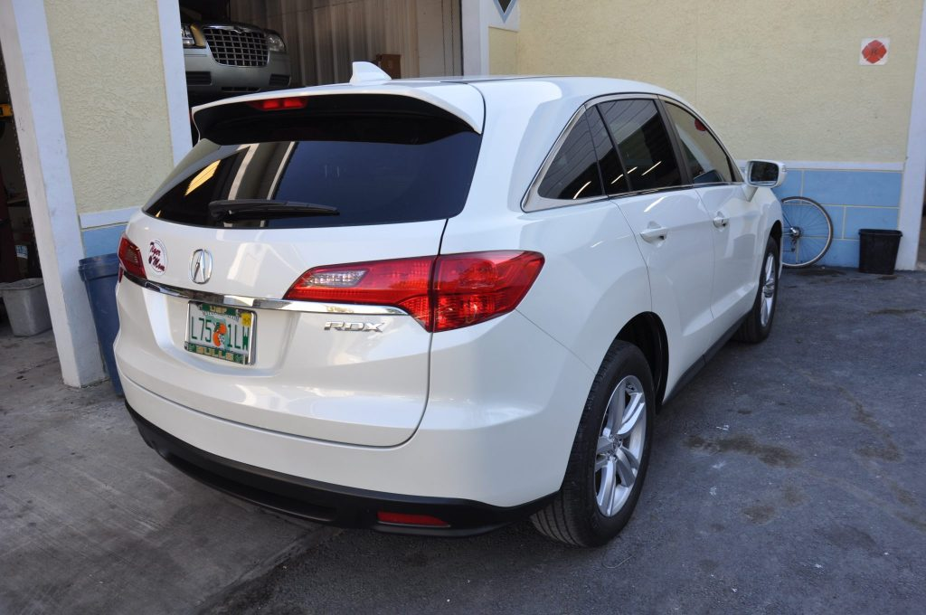 2013 Acura RDX after the rear bumper repair