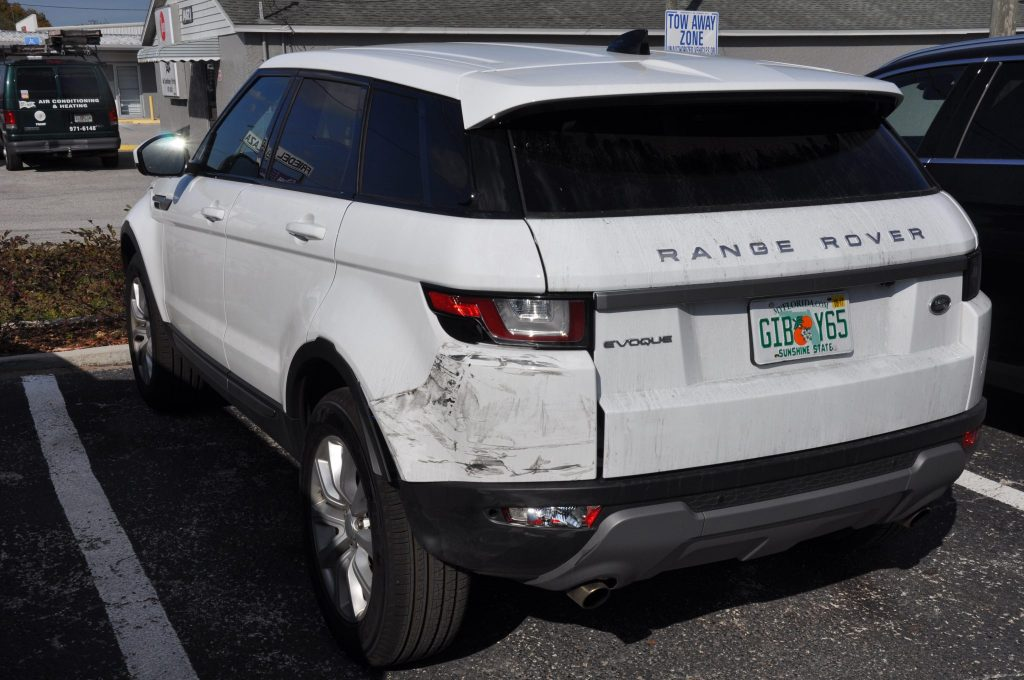 2016 Land Rover Range Rover collision damage to rear
