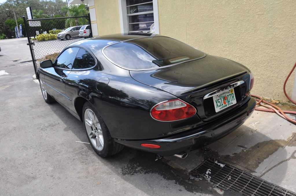 2002 Jaguar XK-R left rear view